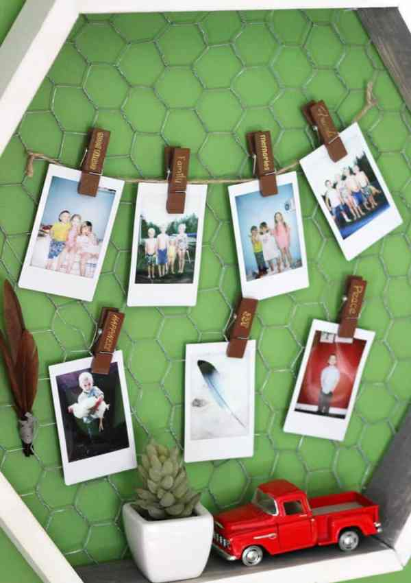 Hexagon Shelf and Instax Display Idea #MyInstaxStory
