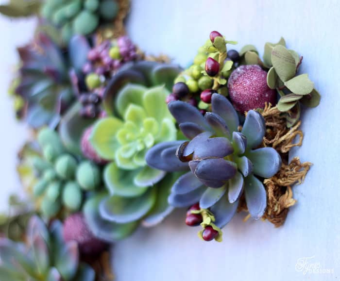 Faux succulents from Flora Craft