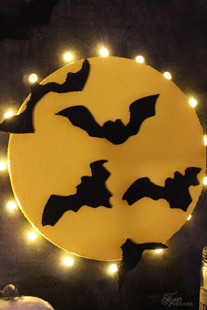 Halloween moon marquee