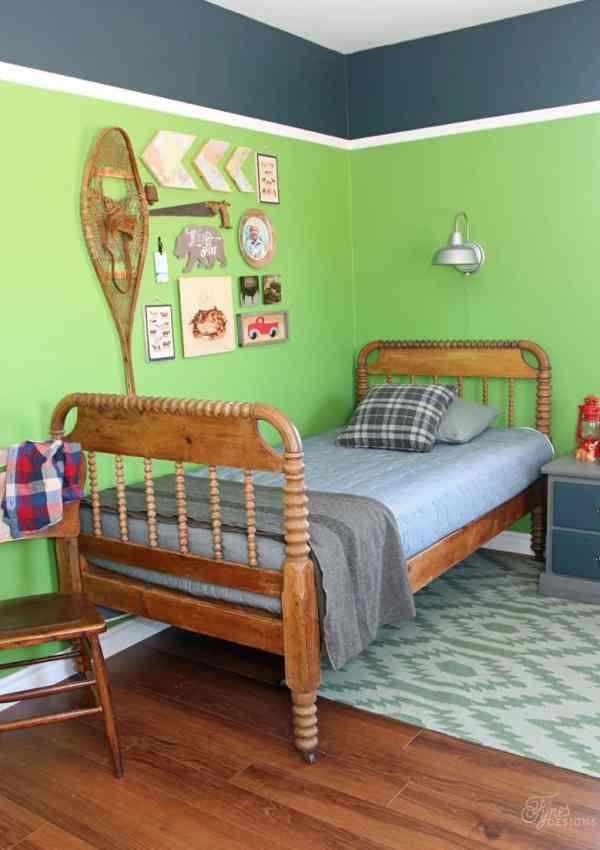 Modern Rustic Boy's Bedroom Reveal