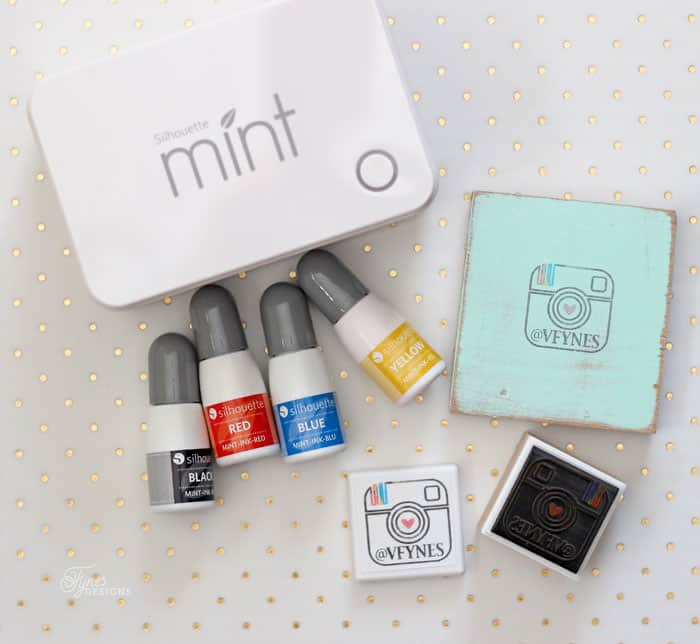 Silhouette Mint Machine creates custom stamps, you can create amazing multi coloured images