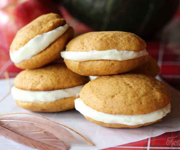 Pumpkin Whoopie Pies with Cream Cheese Icing
