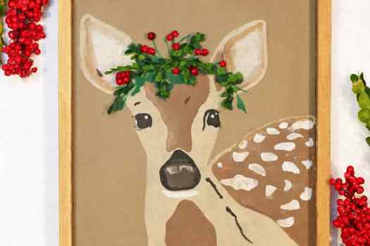 Christmas fawn FREE Silhouette cut file