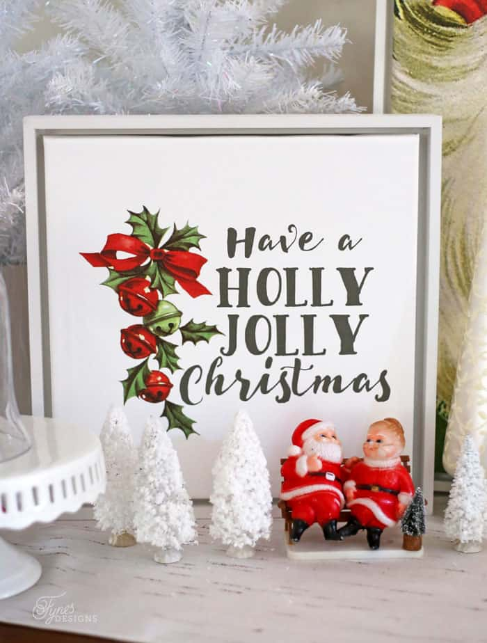 Have a Holly Jolly Christmas custom canvas print from Shutterfly