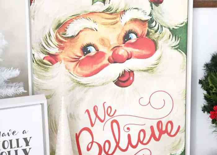 We Believe vintage santa canvas- custom print from Shutterfly