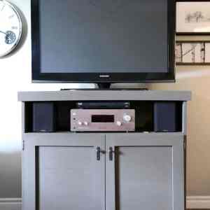 TV console built with Elmers wood glue