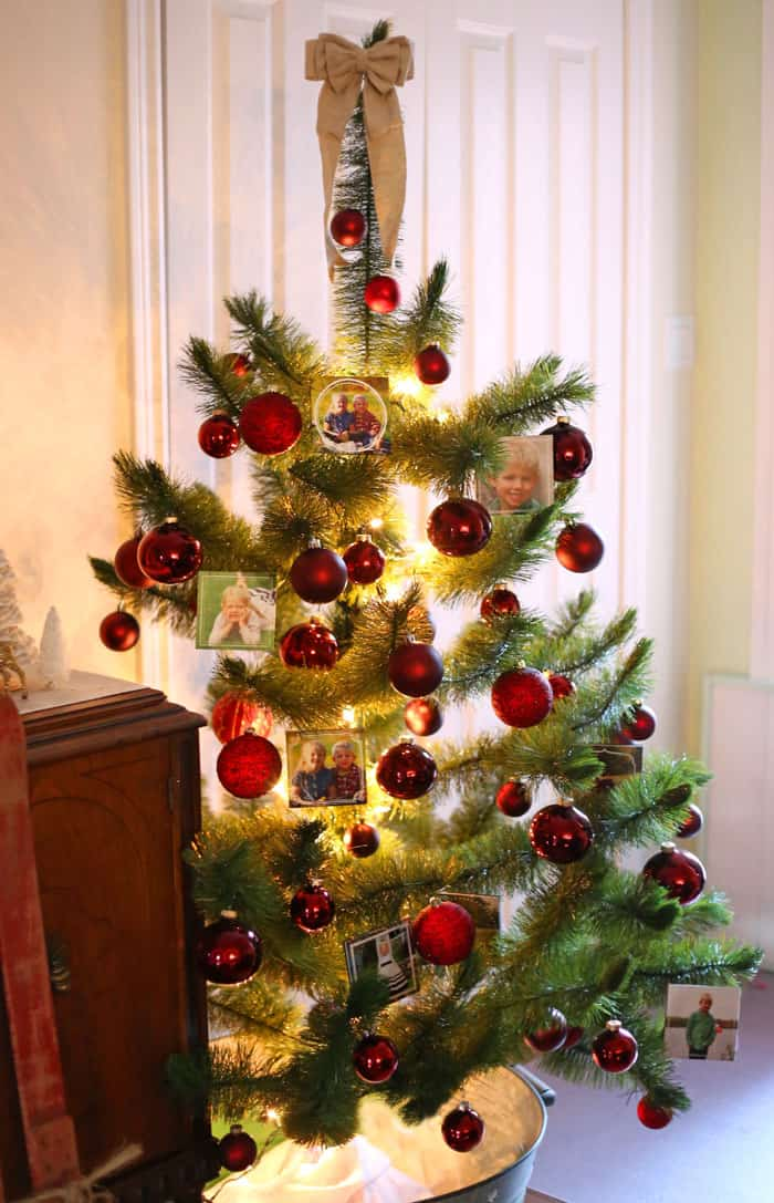 Use small mounted prints to decorate your tree