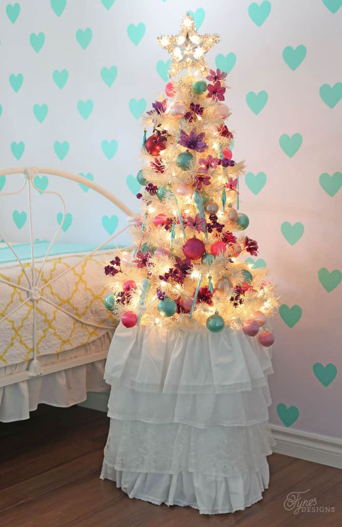 Sweet Christmas little girls bedroom