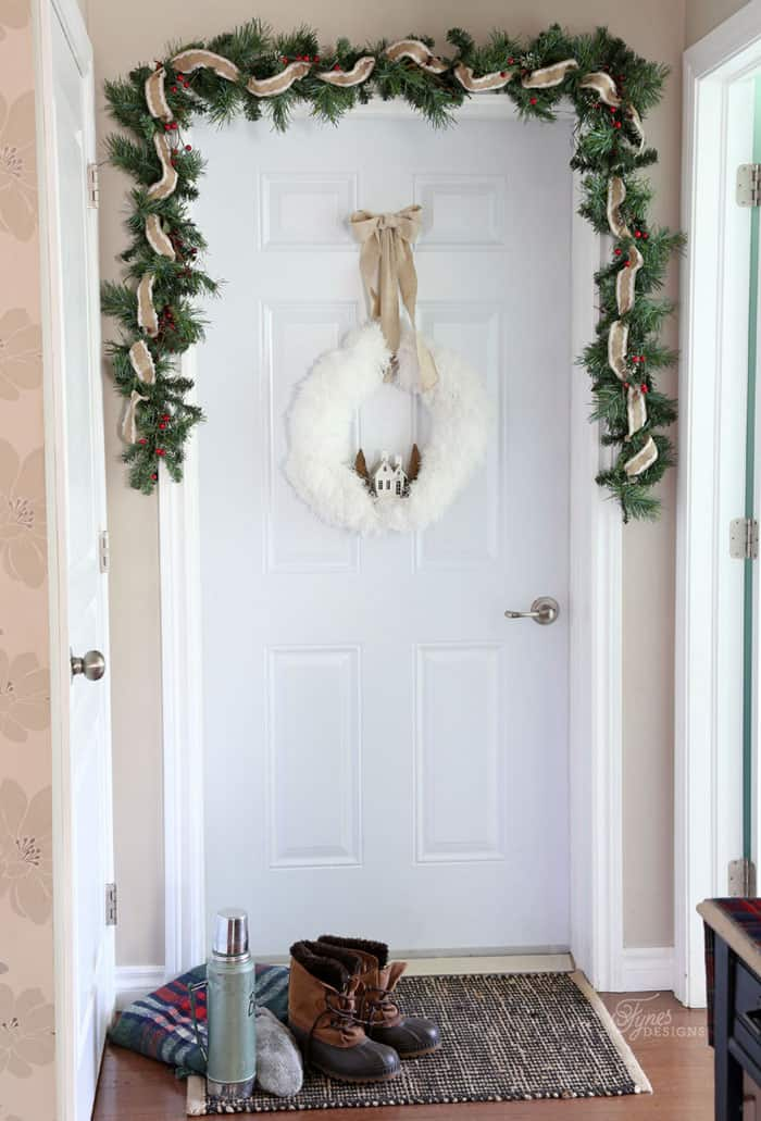 Christmas door garland - Christmas Home Tour Part 1 | Fynes Designs