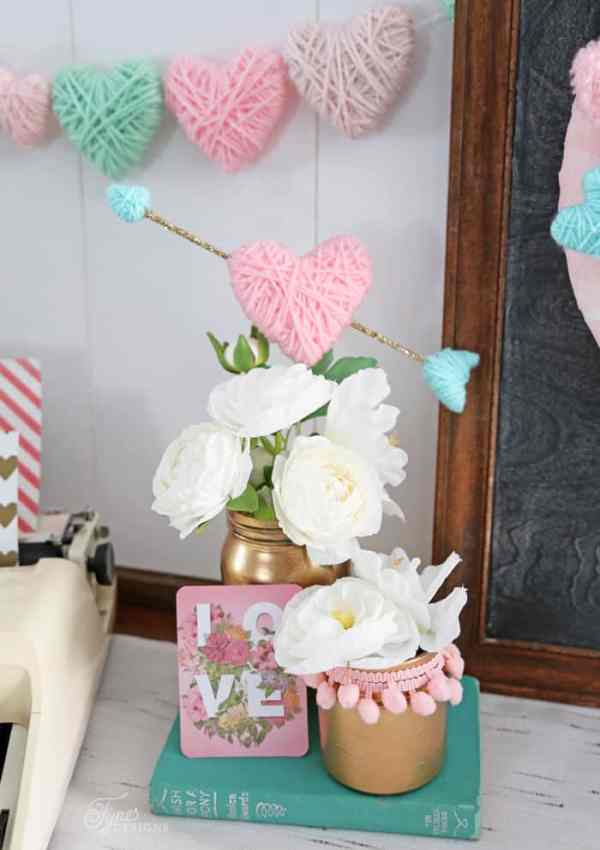 Valentine's Day Craft: Yarn Wrapped Hearts Tutorial