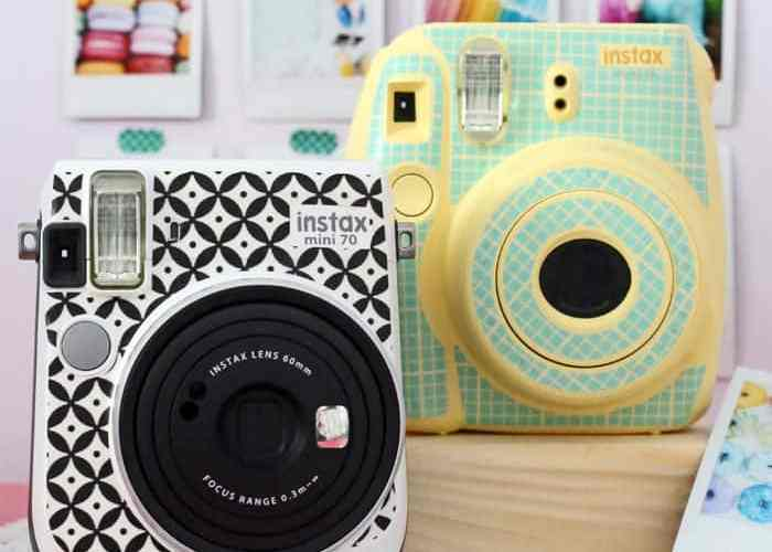 Customize your Instax camera with a DIY sticker skin. Hundreds of possibilities!