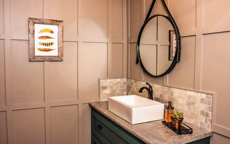 Restaurant bathroom makeover- mens and ladies looks