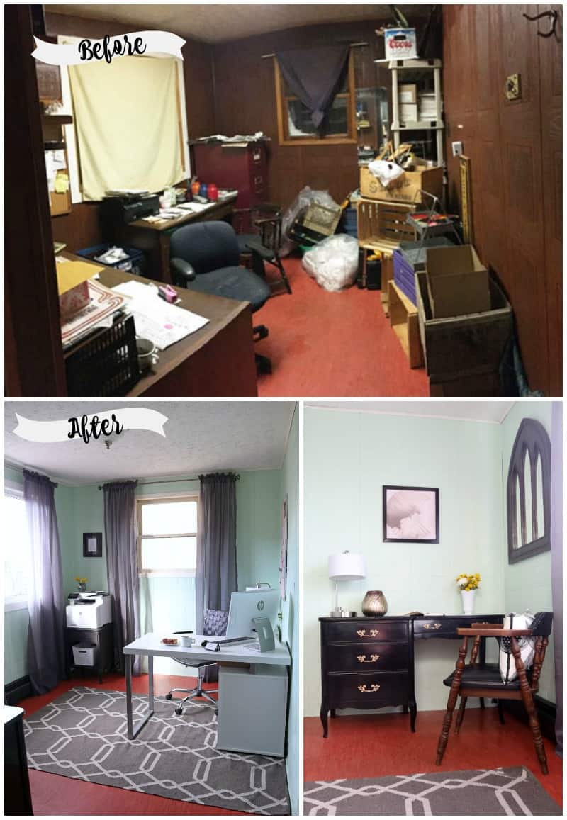 Before and After Small office makeover