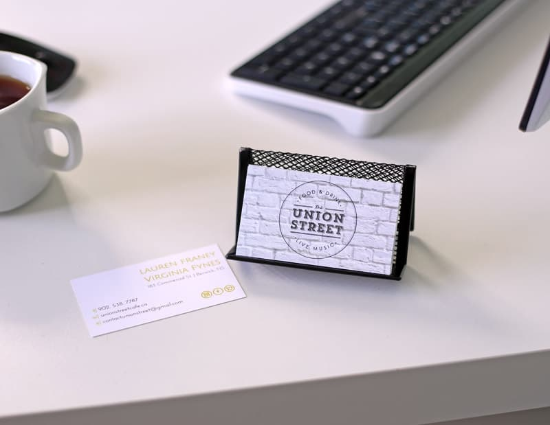 Business cards from Staples Copy and Print cnetre