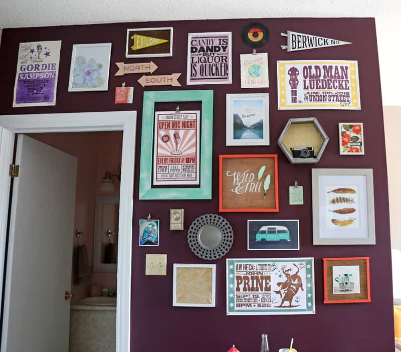 unique airbnb gallery wall