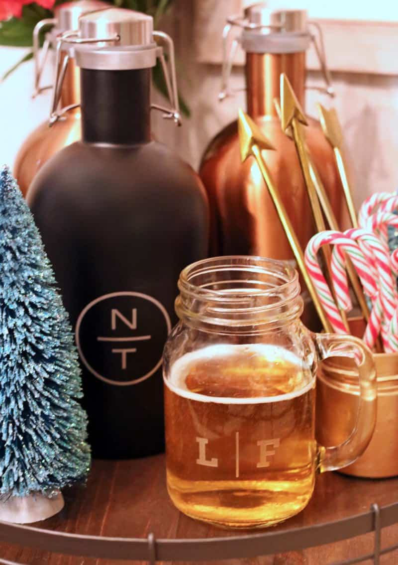 Christmas gift idea- personalized beer mugs