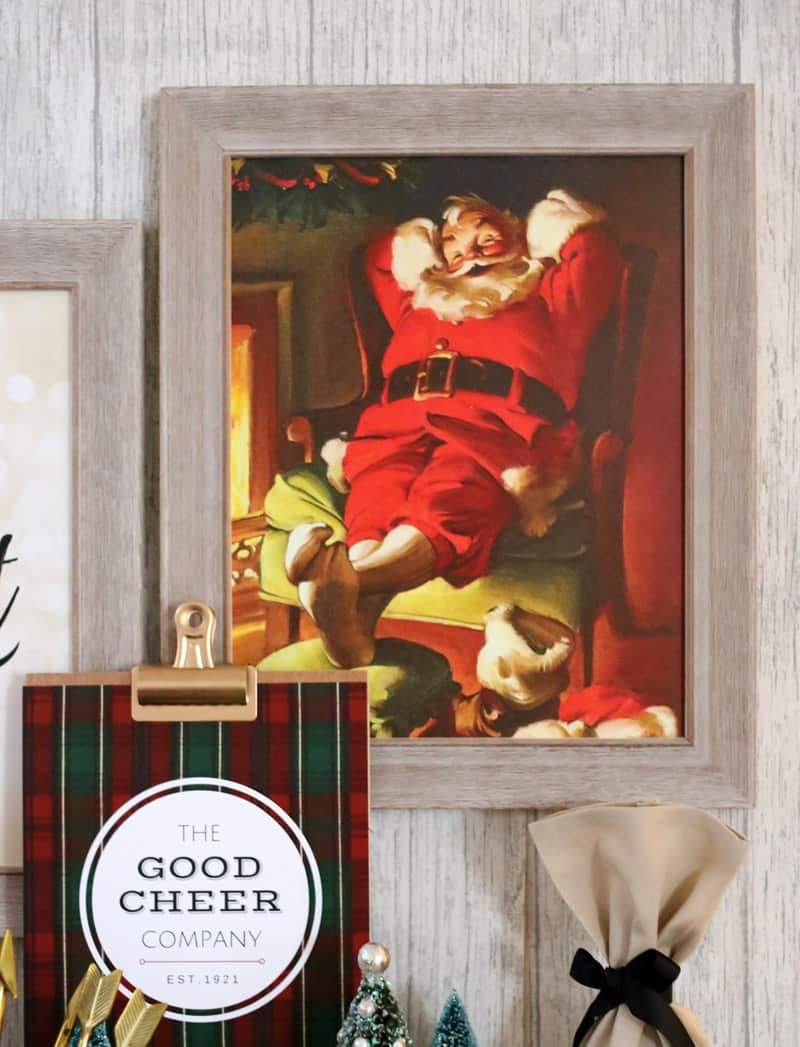 Jolly Santa print framed by Shutterfly