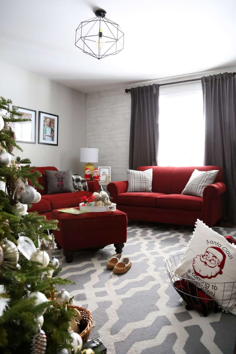 Christmas sitting room