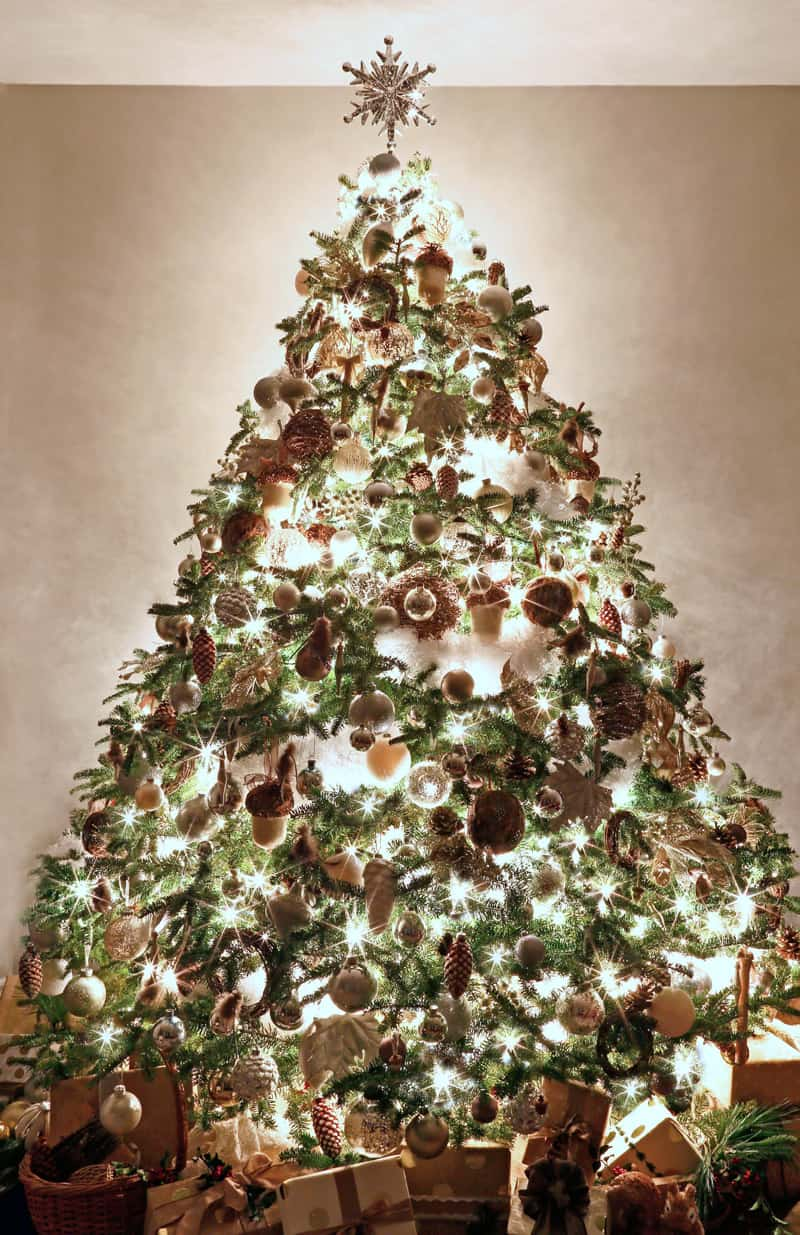 Christmas Decorations From Nature Part - 41: 2016 Fynes Designs Christmas Decorations. White And Brown Nature Themed Tree
