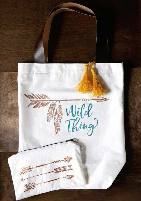 Deco Foil transfer canvas bag from Expressions Vinyl