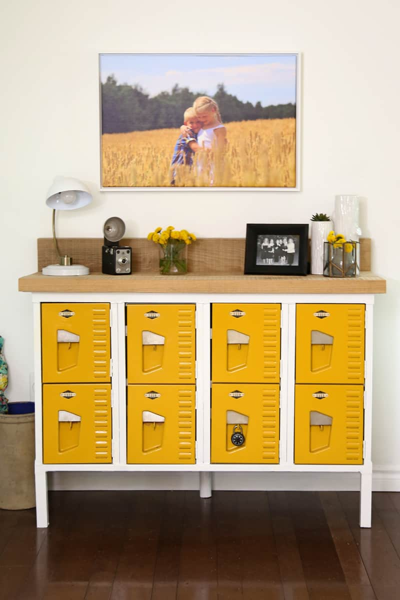 Vintage Locker Console Table