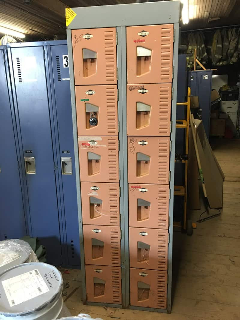 Trash to treasure- vintage locker console table
