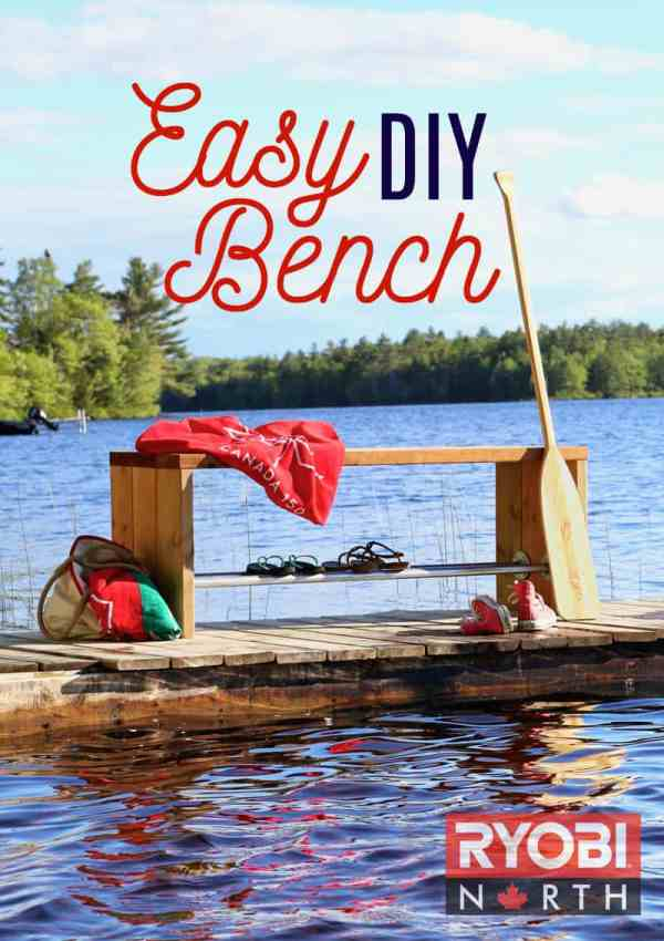 Easy DIY Bench tutorial.Perfect for the Lake