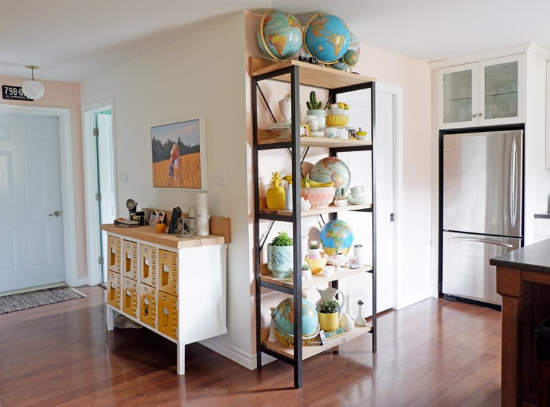 Custom built furniture pieces for a modern farmhouse kitchen makeover