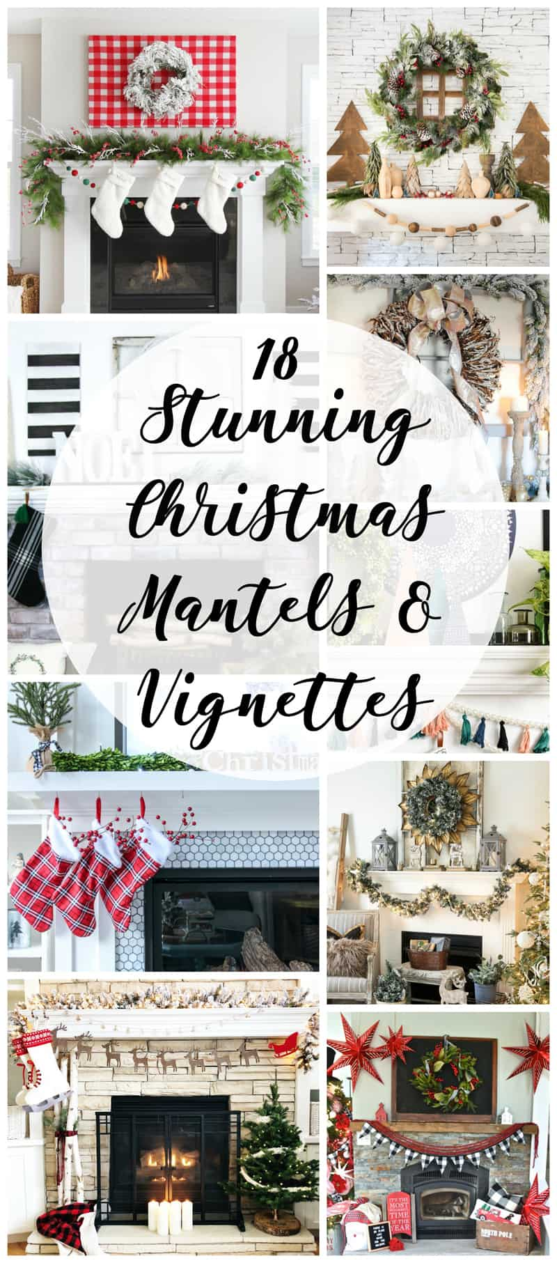 You'll love the gorgeous inspiration in this 18 stunning Christmas Mantel and Vignettes