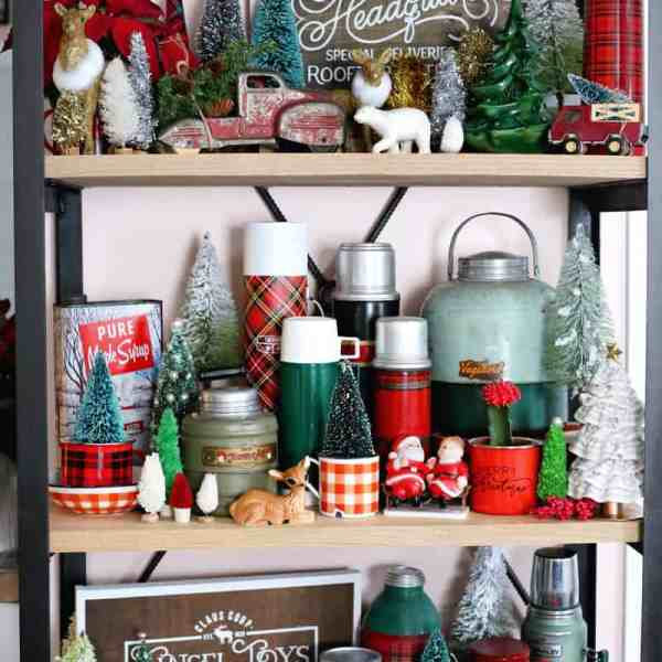 Vintage Inspired Christmas Vignette