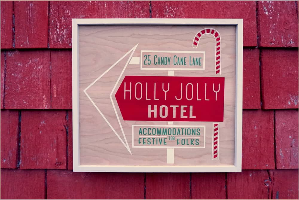 FREE Christmas painted signs SVG, Silhouette, and Cricut Cut file