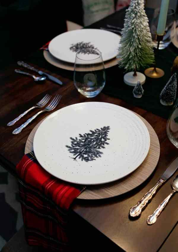 Christmas tree plates from President Choice
