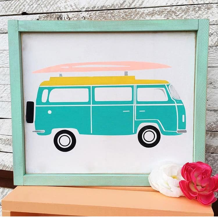 FREE Silhouette and Cricut Summer VW Van Cut File
