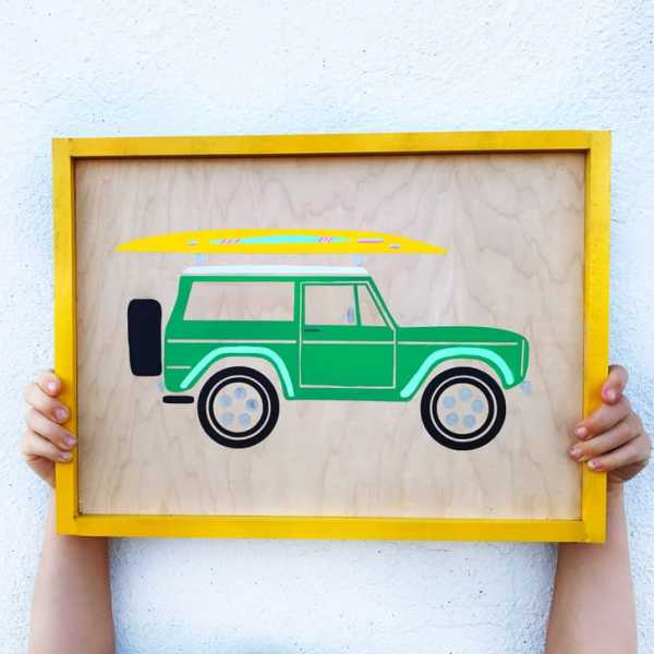 FREE Silhouette and Cricut Summer Bronco Cut File