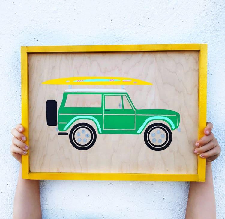 FREE Silhouette and Cricut Summer Bronco Cut File