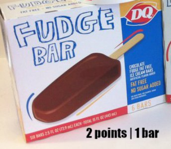 Low Point Weight Watchers snacks under 3 points featured by top US life and style blog, Fynes Designs: Dairy Queen Fudge Bar