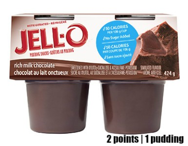 Low Point Weight Watchers snacks under 3 points featured by top US life and style blog, Fynes Designs: Jello Chocolate Pudding