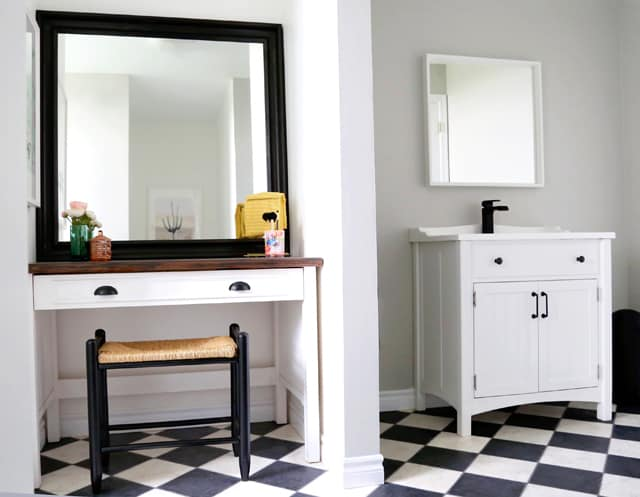 Weekend bathroom makeover