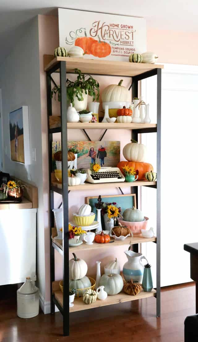 Decorated Fall shelf from Fynes Designs
