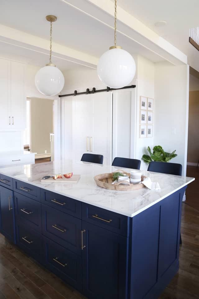 Large kitchen Island with Dekton countertop
