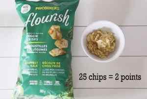 Low point Weight Watchers snack: Flourish chips |Weight Watchers Snacks by popular Canada lifestyle blog, Fynes Designs: image of Flourish veggie crisps.