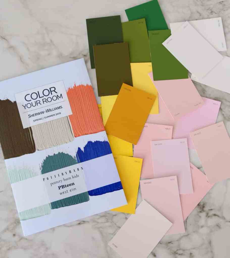 Choosing paint colors from Sherwin-Williams for The One Room Challenge