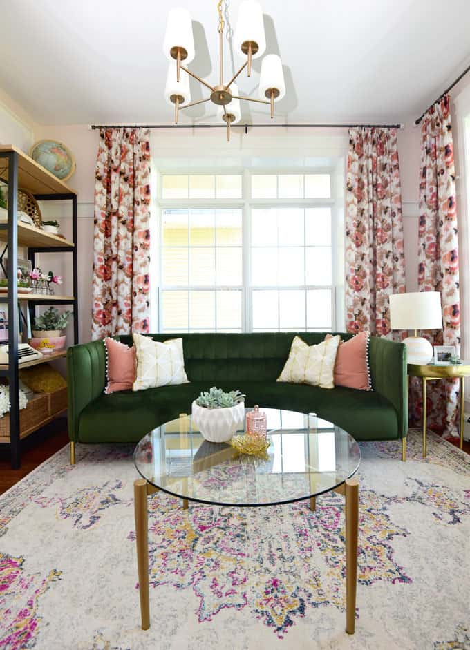 Colorful Modern Living Room Design featured by top US design blog, Fynes Designs