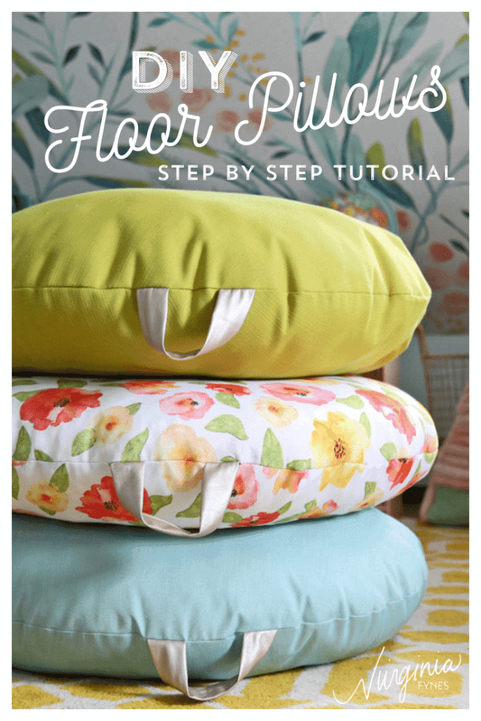 How to Sew a DIY Floor Pillow tutorial featured by top US craft blog, Fynes Designs