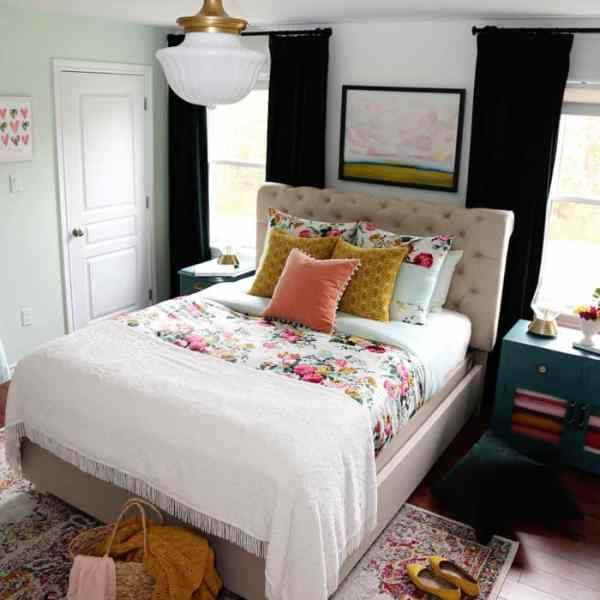 Bright and Colourful Master Bedroom refresh