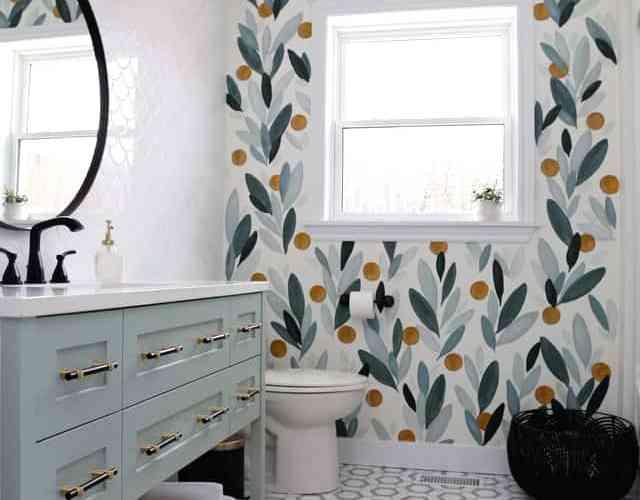 colourful bathroom makeover
