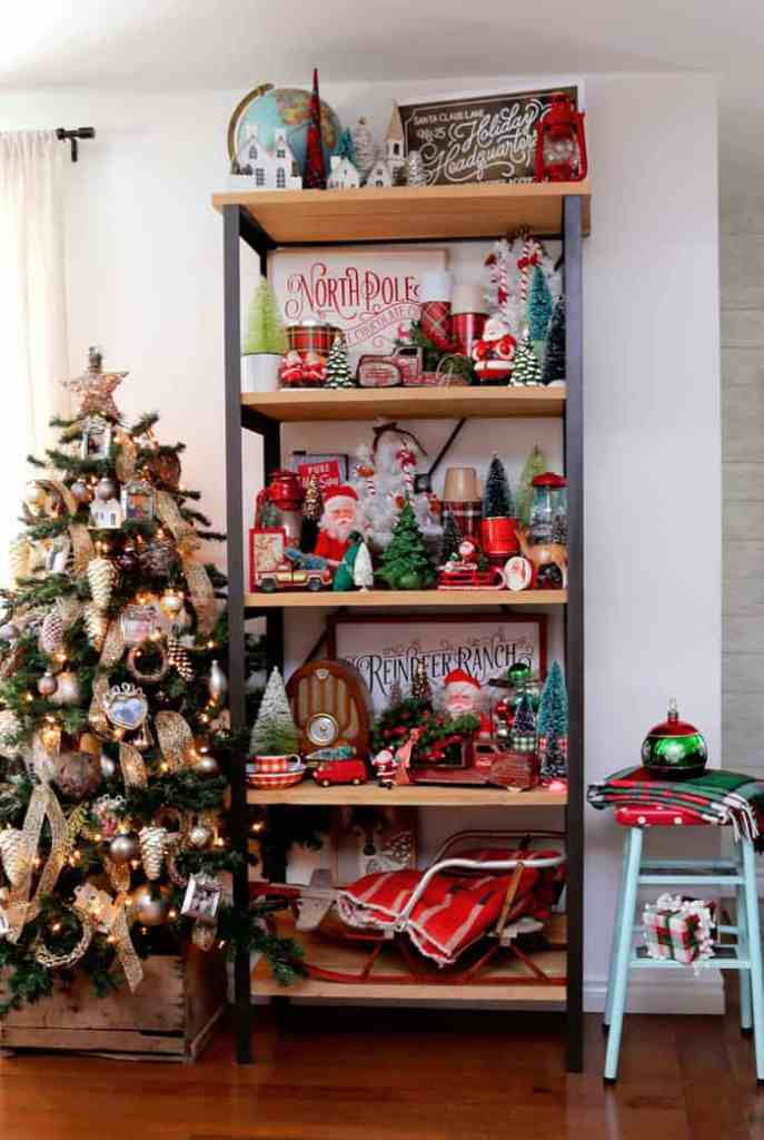 Christmas Home Decor Tour featured by top US design blog, Fynes Designs: Retro Christmas decorations | Holiday Home Decor Tour 2019 by popular Nova Scotia life and style blog, FYNE Designs: image of retro Christmas decorations.
