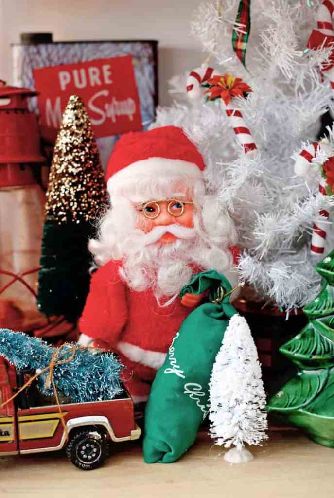 Christmas Home Decor Tour featured by top US design blog, Fynes Designs: Vintage Santa Claus | Holiday Home Decor Tour 2019 by popular Nova Scotia life and style blog, FYNE Designs: image of vintage Santa Claus.