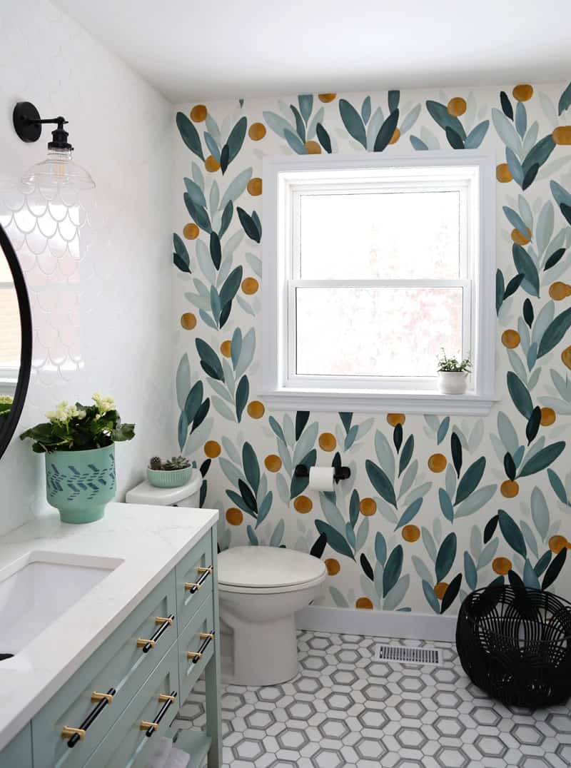 How To Paint Over Wallpaper In A Bathroom Diy Fynes Designs