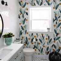 How to Paint Over Wallpaper in a Bathroom